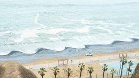 Paisagens da cidade de Miraflores em Lima peru foto de stock royalty free