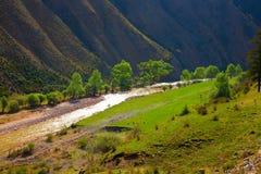 Paisagens da montanha de Qilian Foto de Stock Royalty Free