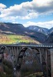 Paisagens da ponte de Montenegro - de Djurdjevica Tara foto de stock