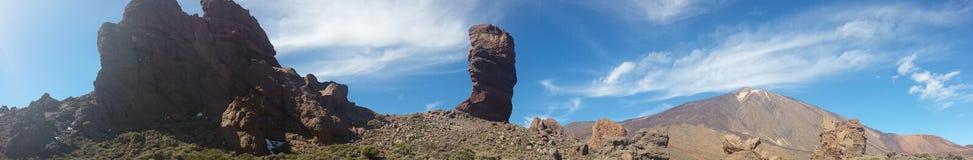 paisagens de Canadas del Teide no inverno Imagem de Stock