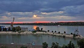 Paisagens de Danúbio Fotografia de Stock