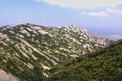 Paisagens de montanhas de Montserrats, Espanha foto de stock royalty free