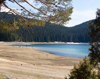 Paisagens de Montenegro - lago preto Durmitor fotografia de stock