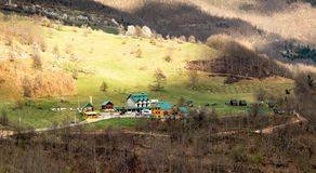 Paisagens de Montenegro fotografia de stock