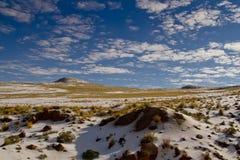 Paisagens de Peru, montanhas com nascer do sol da neve Imagem de Stock Royalty Free