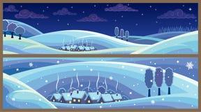 Paisagens do inverno Fotos de Stock Royalty Free