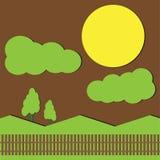 paisagens e a Lua cheia Imagens de Stock