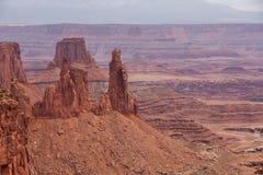 Paisagens espetaculares do parque nacional de Canyonlands em Utá, EUA Imagens de Stock