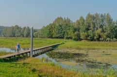 Paisagens holandesas - De Blauwe Kamer - Güéldria Imagens de Stock Royalty Free