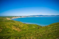 Paisagens nacionais do litoral de Reyes do ponto em Califórnia fotografia de stock royalty free