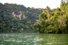 Paisagens perto de Livingston, Guatemala de Rio Dulce Fotos de Stock Royalty Free