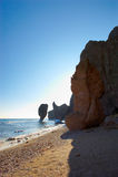 Paisagens rochosas do mar de japão. Foto de Stock Royalty Free
