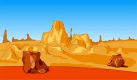 Paisagens selvagens da natureza do deserto Fotos de Stock Royalty Free