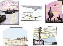 Paisagens variadas Imagens de Stock