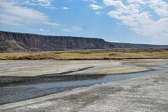 Paisagens vulcânicas no lago Magadi, Kenya fotos de stock royalty free