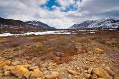 Paisaje árido de la región de la montaña. Imágenes de archivo libres de regalías