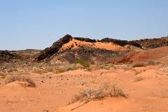 Paisaje árido del desierto del Néguev Imagenes de archivo