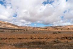 Paisaje árido, Lanzarote, canario, España foto de archivo libre de regalías