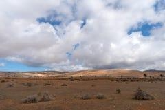 Paisaje árido, Lanzarote, canario, España imagen de archivo libre de regalías
