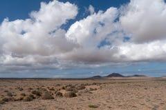Paisaje árido, Lanzarote, canario, España fotografía de archivo