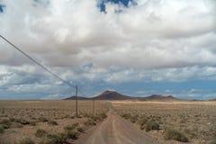 Paisaje árido, Lanzarote, canario, España fotografía de archivo libre de regalías