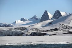 Paisaje ártico de la montaña Imagen de archivo libre de regalías