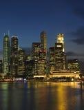 Paisaje 1 de Singapur Nite Fotos de archivo