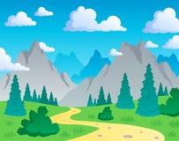 Paisaje 1 del tema de la montaña Imagen de archivo libre de regalías
