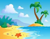 Paisaje 1 del tema de la playa Fotos de archivo libres de regalías