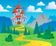 Paisaje 1 del tema del castillo Imagen de archivo libre de regalías
