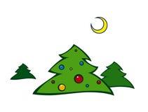 Paisaje 2 de la Navidad Ilustración del Vector