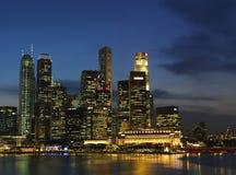 Paisaje 2 de Singapur Nite Imagen de archivo libre de regalías