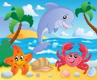 Paisaje 3 del tema de la playa Foto de archivo libre de regalías