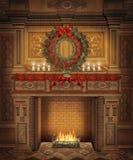 Paisaje 4 de la Navidad Imagenes de archivo