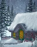 Paisaje 4 del invierno ilustración del vector