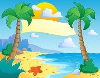 Paisaje 4 del tema de la playa Fotografía de archivo