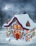 Paisaje 6 de la Navidad stock de ilustración