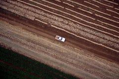 Paisaje aéreo con el campo rural Imagenes de archivo