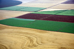Paisaje aéreo con el campo rural Fotografía de archivo libre de regalías
