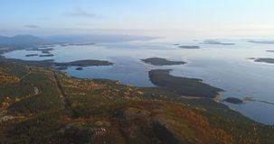 Paisaje aéreo de Autumn Nature septentrional Fotos de archivo