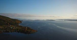Paisaje aéreo de Autumn Nature septentrional Foto de archivo libre de regalías