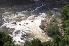 Paisaje aéreo de la cascada Imágenes de archivo libres de regalías