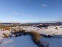 Paisaje aéreo del invierno Imágenes de archivo libres de regalías