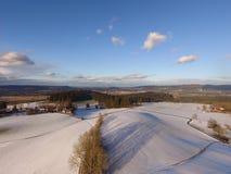 Paisaje aéreo del invierno Foto de archivo libre de regalías