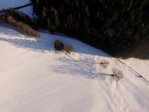 Paisaje aéreo del invierno Fotografía de archivo libre de regalías