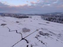 Paisaje aéreo del invierno Imagen de archivo