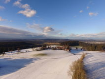 Paisaje aéreo del invierno Imagen de archivo libre de regalías
