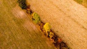 Paisaje aéreo del otoño del campo foto de archivo