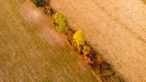 Paisaje aéreo del otoño del campo imágenes de archivo libres de regalías