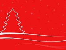 Paisaje abstracto de la Navidad con los copos de nieve Imagenes de archivo